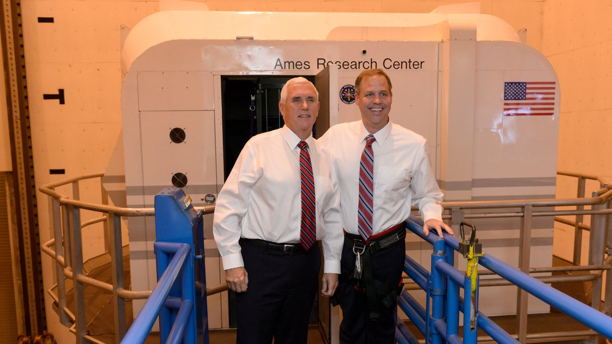 See more photos from todays visit by @VP Pence & Administrator @JimBridenstine to @NASAAmes: go.nasa.gov/2Kp4Chj