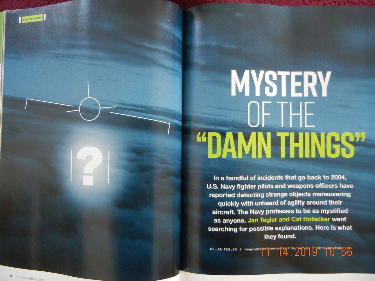 BREAKING NEWS: As member of AIAA I just got my this month's copy of Aerospace America & was shocked to see cover! A peek inside surprised me even more! A cover article on #ufo #uap –u can read it here:  https:// aerospaceamerica.aiaa.org/features/myste ry-of-the-damn-things/   … <br>http://pic.twitter.com/7JqRdqQsaL