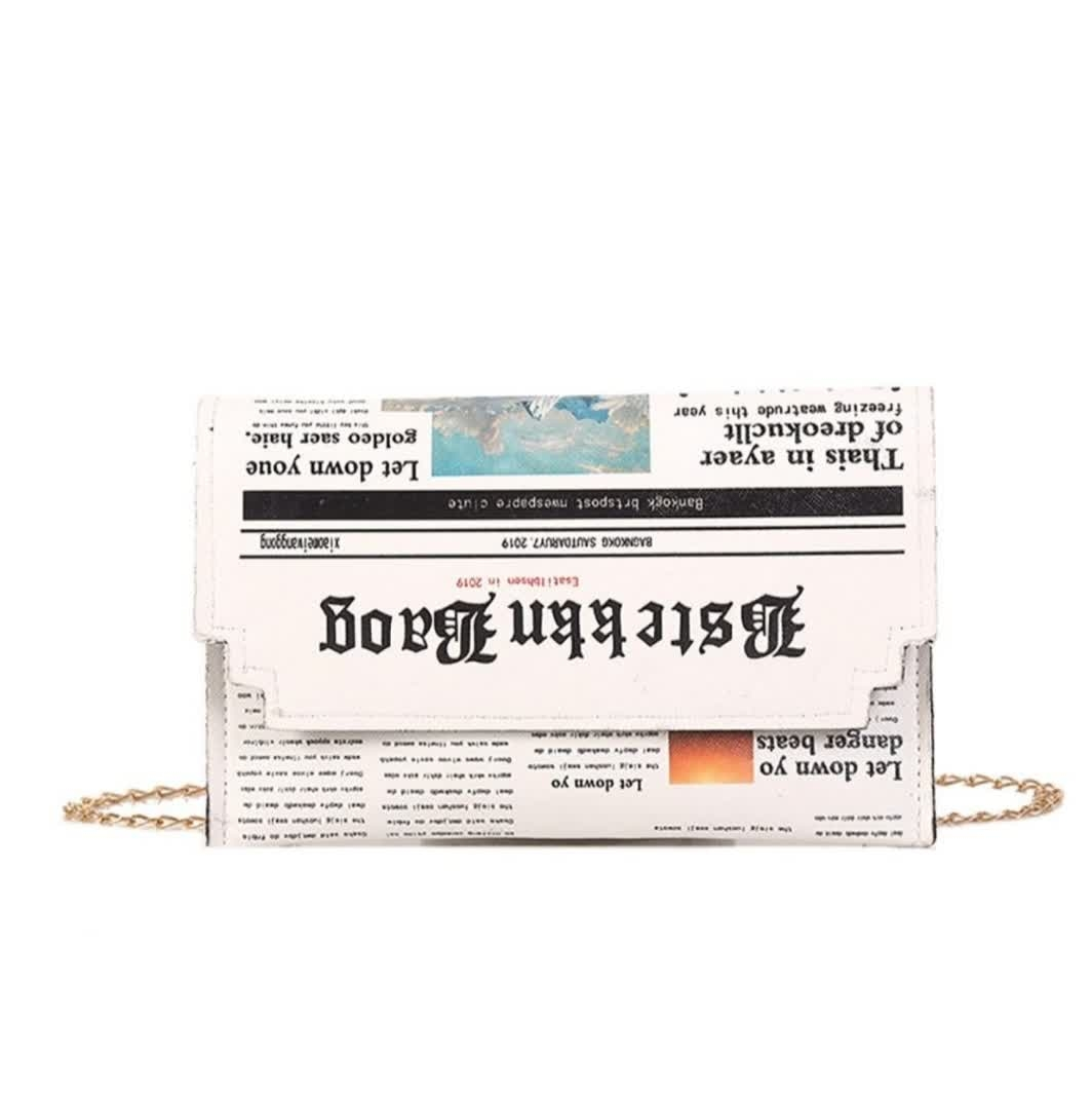 Newspaper Pattern ClutchFit For A Queen Collection 👑@prilaga #shopping #bagaddict #klosetbag #trendy #clutch #purselover #musthavebags #fashionbag #handbags #bagoftheday #purseparty #purse #bag #bagsholic #clutches #bagslover #crossbags #newcollection #bagslovers