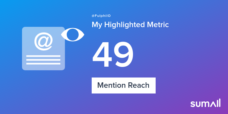 My week on Twitter 🎉: 6 Mentions, 49 Mention Reach, 9 New Followers. See yours with sumall.com/performancetwe…