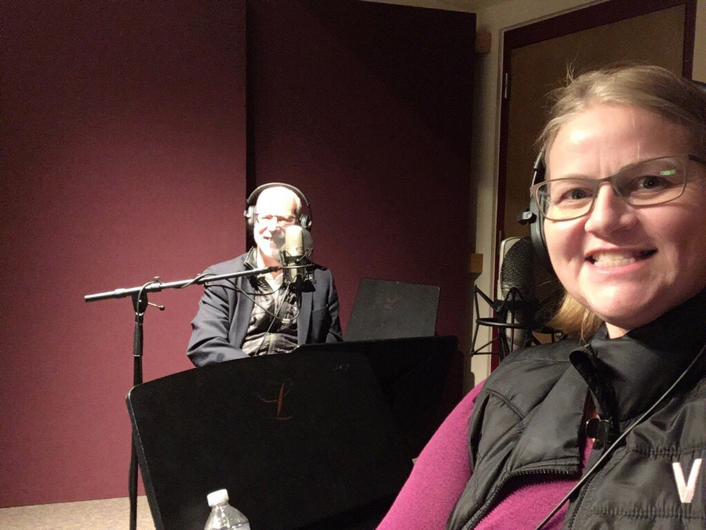 Podcasting fun w/ @jholston of @RitchieSchool @UofDenver on #CSforALL #WomeninTech // Episode 1 coming soon....