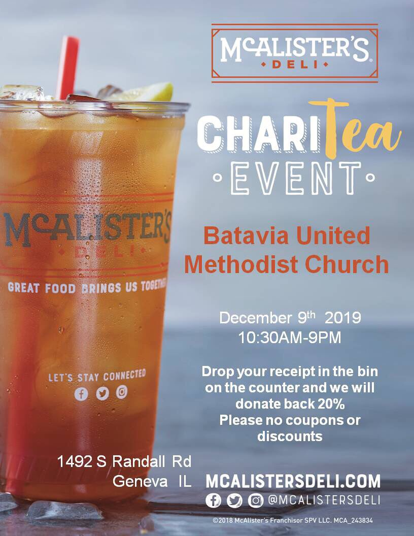 Our first of many opportunities to support our trip is here! Support the 2020 mission trip by going to McAlister's Deli (1492 S Randall, Geneva) on December 9th, 2019 and 20% of your total will benefit US! Read the instructions below and benefit ASP as well as McAlister's!