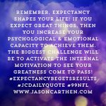 Image for the Tweet beginning: Remember, expectancy shapes your life!
