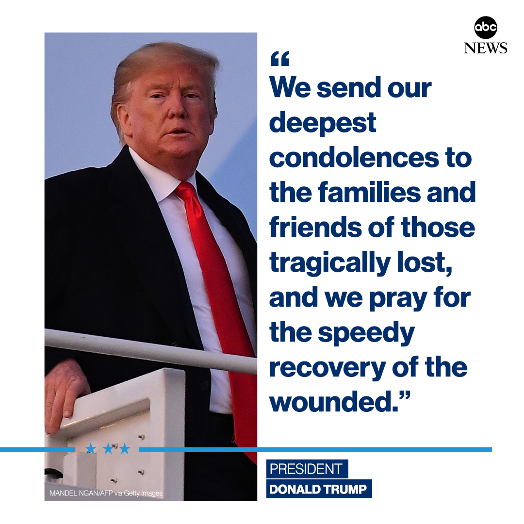 """NEW: Pres. Trump on Santa Clarita school shooting: """"We send our deepest condolences to the families and friends of those tragically lost, and we pray for the speedy recovery of the wounded."""" http://abcn.ws/34Xx816"""