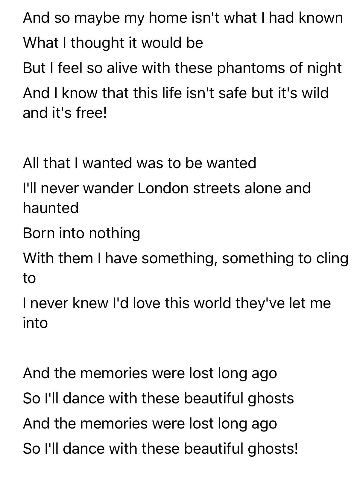Taylor Swift News On Twitter Official Lyrics For Beautifulghosts