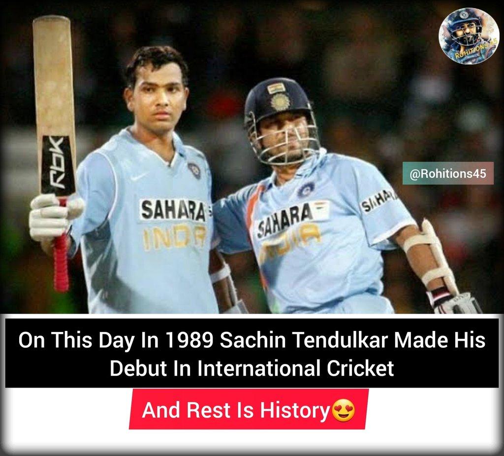 Its All Started On 15th November 1989 In Karachi🏏@ImRo45 @ritssajdeh @soumitraro45 @sachin_rt#TeamIndia #rohitions45 #indvssa #indvsa #rohitopensagain #rohitsharma #rohitsharma45