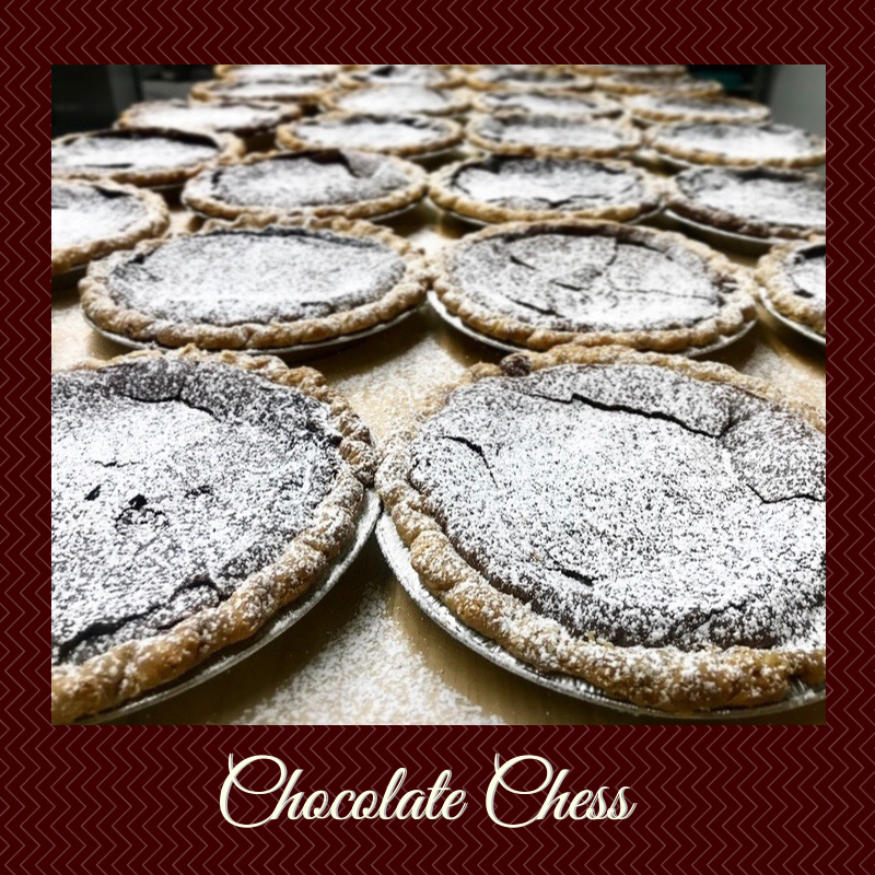 Holiday pie spotlight: Chocolate Chess. For anyone who nursed their teenage heartbreak the old fashioned way, with one hand rewinding side 1 of a warbly Fleetwood Mac's Rumours cassette and the other in a bowl of brownie batter. Relive it this Thanksgiving!