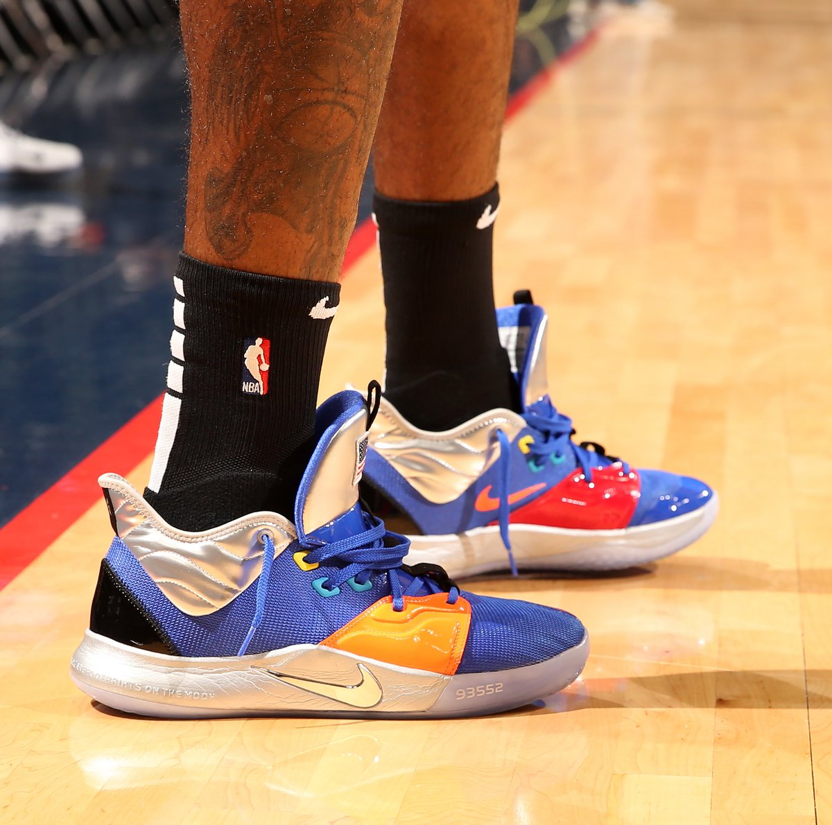 Paul George returns to action in the NASA Blue Nike PG 3! #NBAKicks #ClipperNation