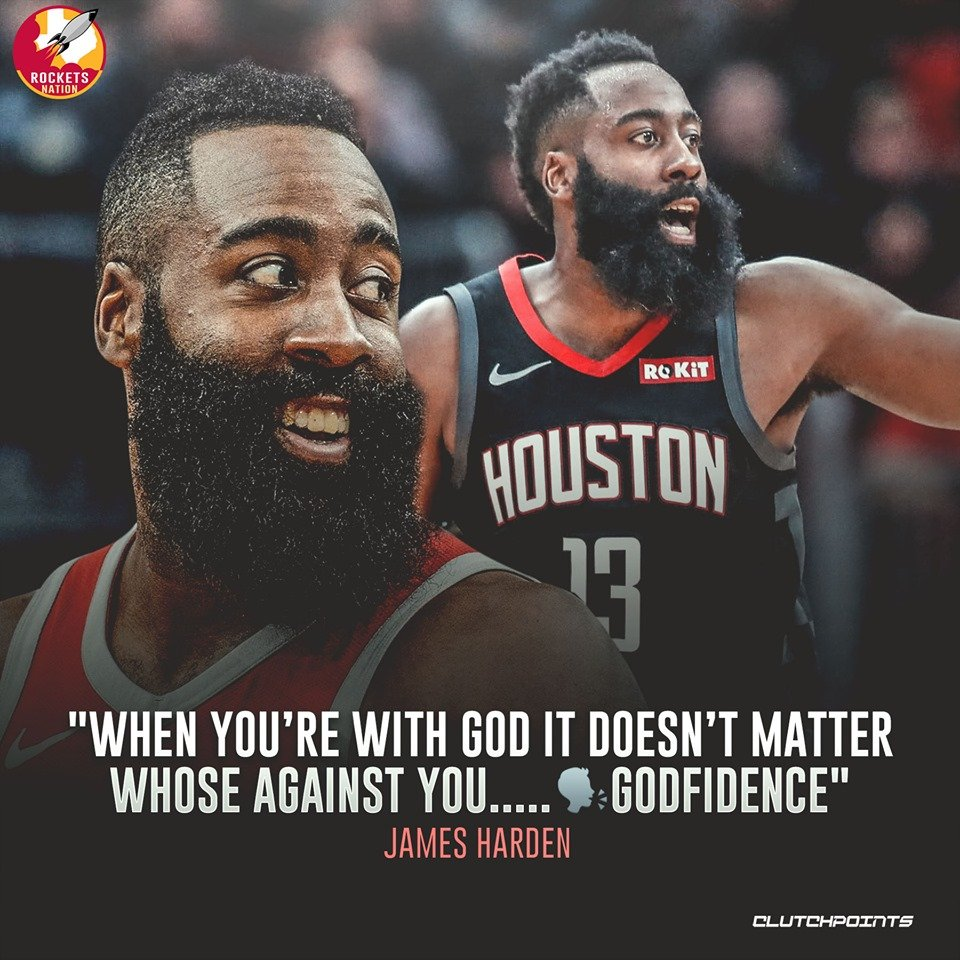 Lack of confidence is NOT one of James Harden's problems! #Rockets #OneMission