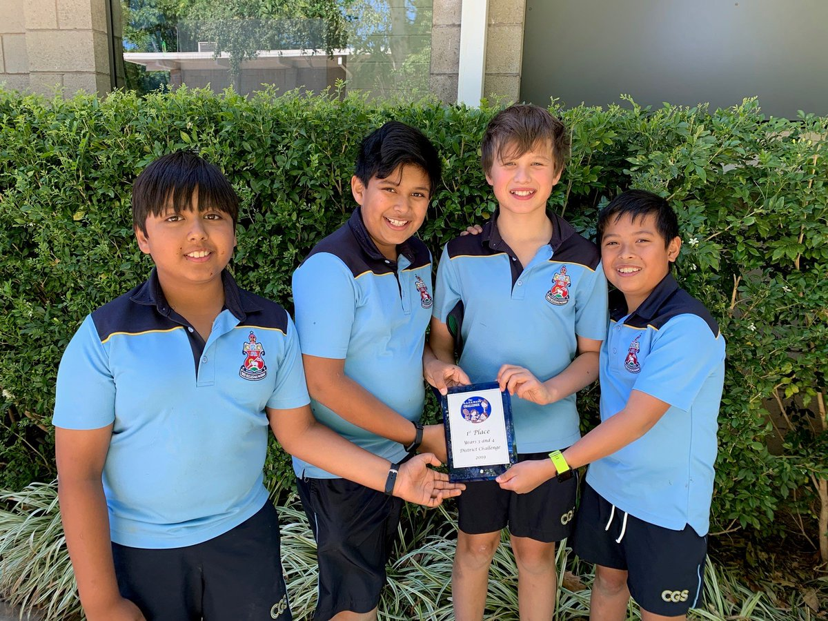 Congratulations to the Years 4 & 5 teams who won their year level competition in the G.A.T.E.WAYS Challenge held at CGS last week. The Year 6 team also placed 3rd.  The Years 4 & 5 teams now have an opportunity to compete in the Grand Final in Melbourne. Well done!