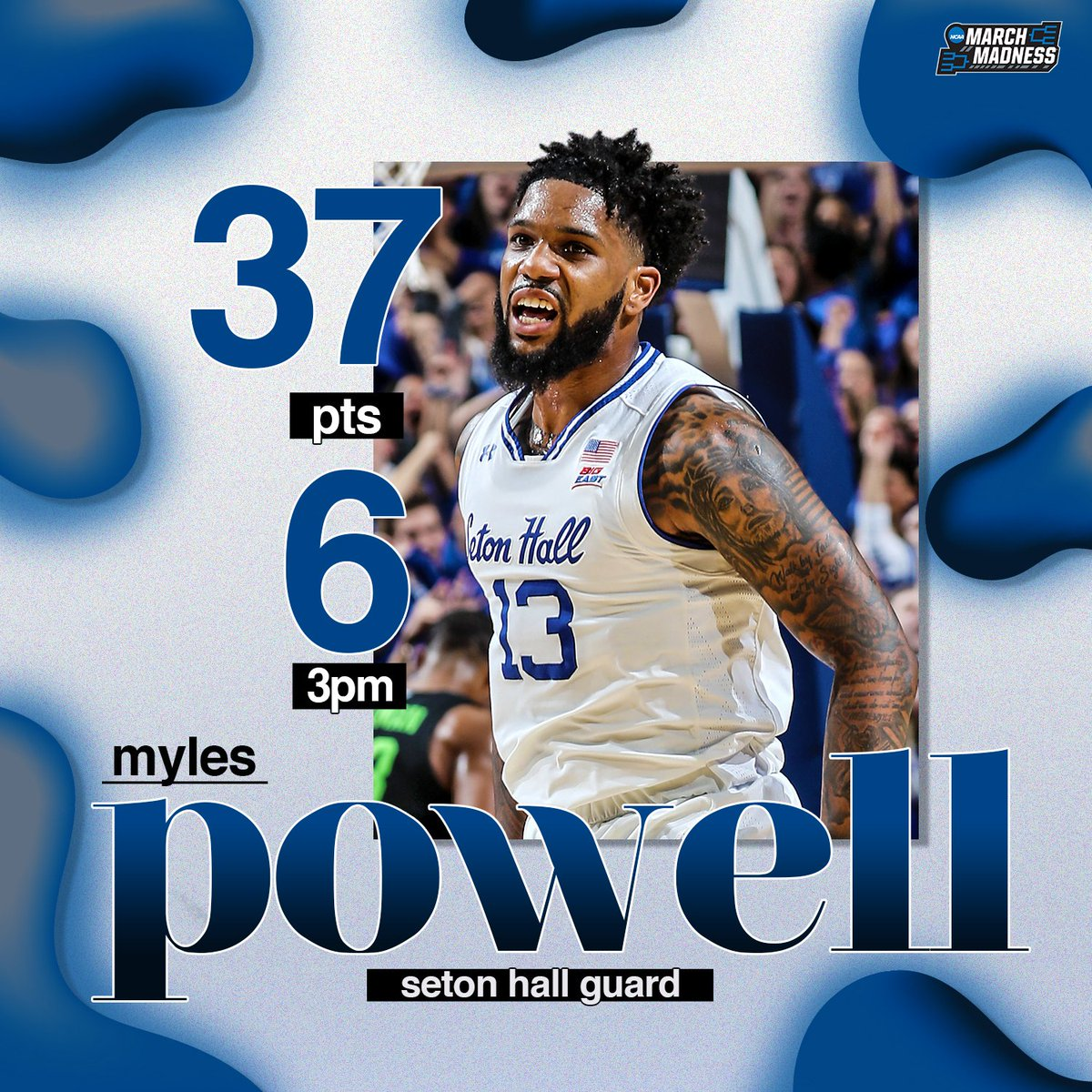Despite the loss, Myles Powell left it all on the court.   #HALLin<br>http://pic.twitter.com/u8jvqfYY2S