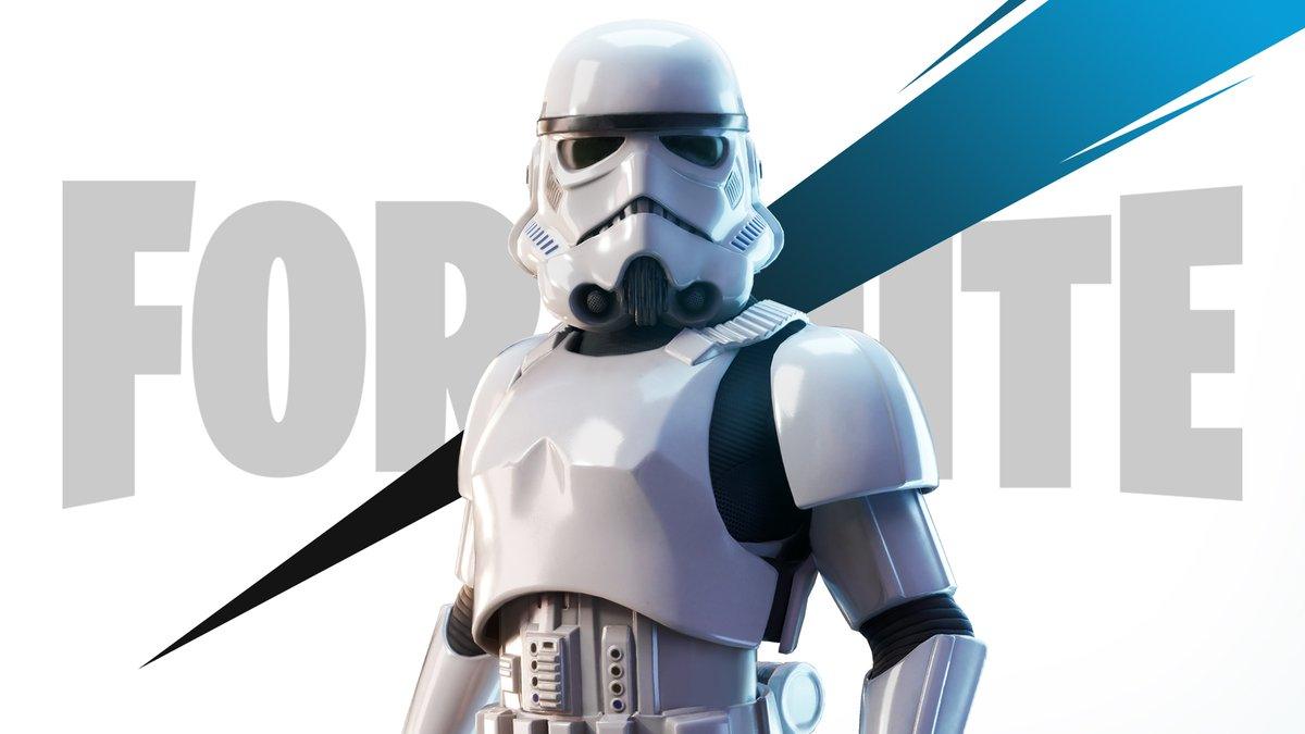 The Imperial army has arrived.  The Imperial Stormtrooper is scouting the Island. Grab him in the Item Shop now!