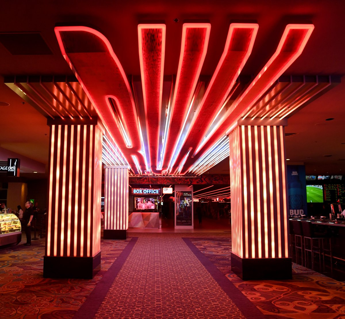This is what the entrance for the underbelly of #Vegas looks like… Time to test our fearlessness. We're diving in for World Premiere of #RunTheShow.  <br>http://pic.twitter.com/MekeE5uP92