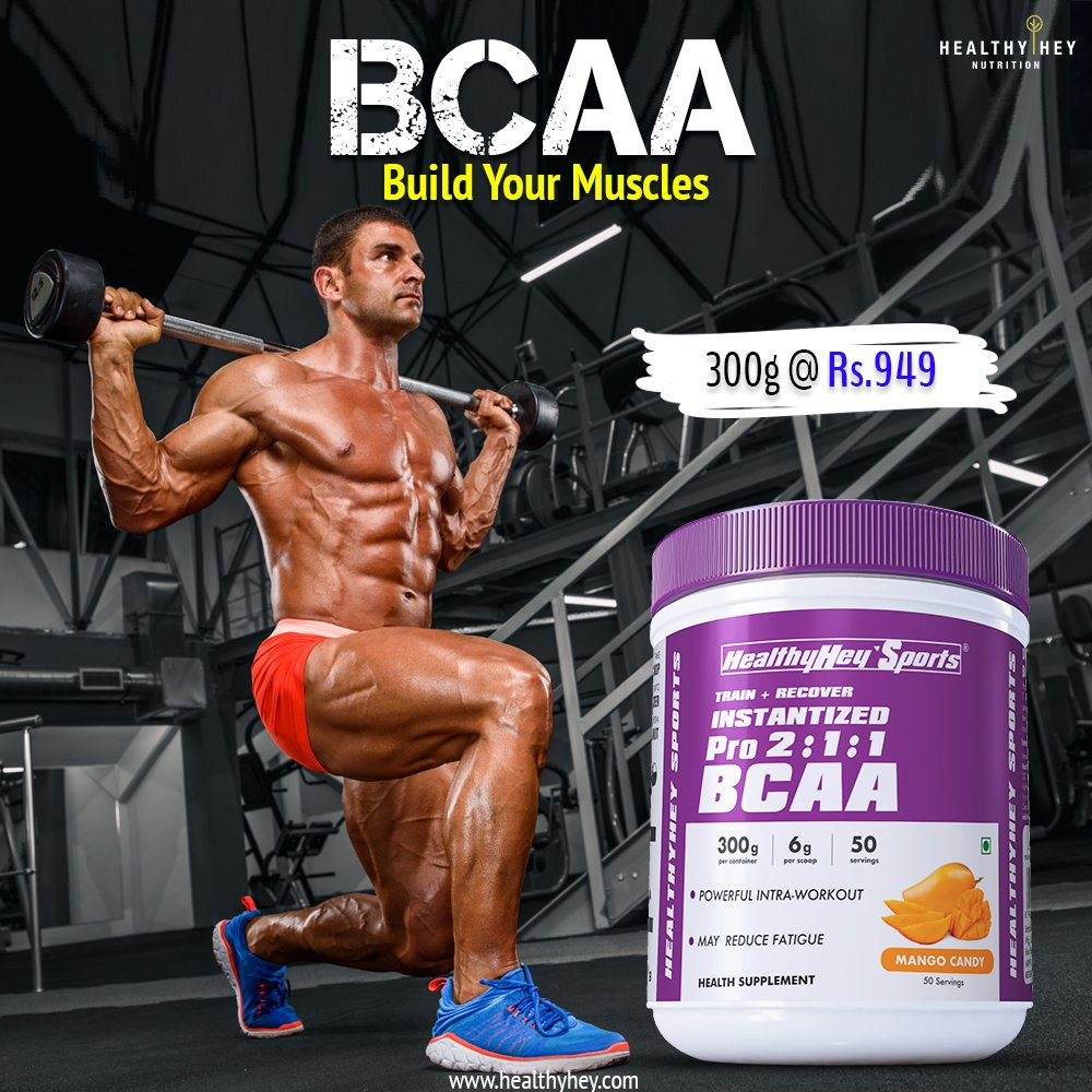 BCAAs are The Key Amino Acids Necessary to Help Rebuild Lean Muscle and Reduce Soreness After a Workout. Get Your Pack At Just Rs. 949 only :http://bit.ly/32KMi8u . . #Healthyhey #BCAAs #Aminoacids #Natural #Leanmuscles #Muscle #Workouts #Mass #Health #Sportspic.twitter.com/uQFHqn3VBI