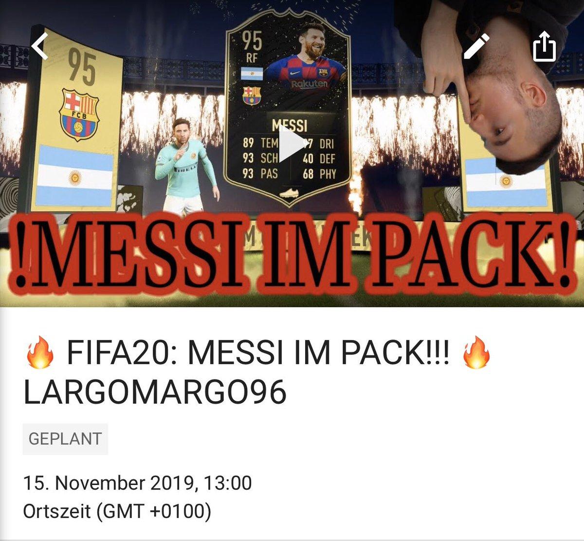 ‼️UM 13UHR GEHT MEIN VIDEO ONLINE‼️ FOLGT UND ABONNIERT AUF YOUTUBE, INSTAGRAM UND TWITCH UM IMMER SUF DEM NEUSTEN STAND ZU SEIN! #walkout #video #inform #messi #fifa20 #new #packs #coins #fut #ultimate #team #hot #incredible