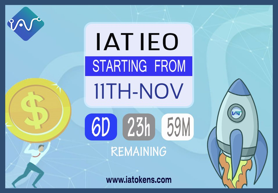 IAT Quiz for the week has ended. Thank you for thousands who participated. We will announce the 30 winners on Sunday. Stay tune for more quizzes.   Let's also start our countdown as IAT IEO on Probit Global Exchange will launch on November 21st!   #IAT #Blockchain #RealEstate<br>http://pic.twitter.com/n1gwc9Zlwm