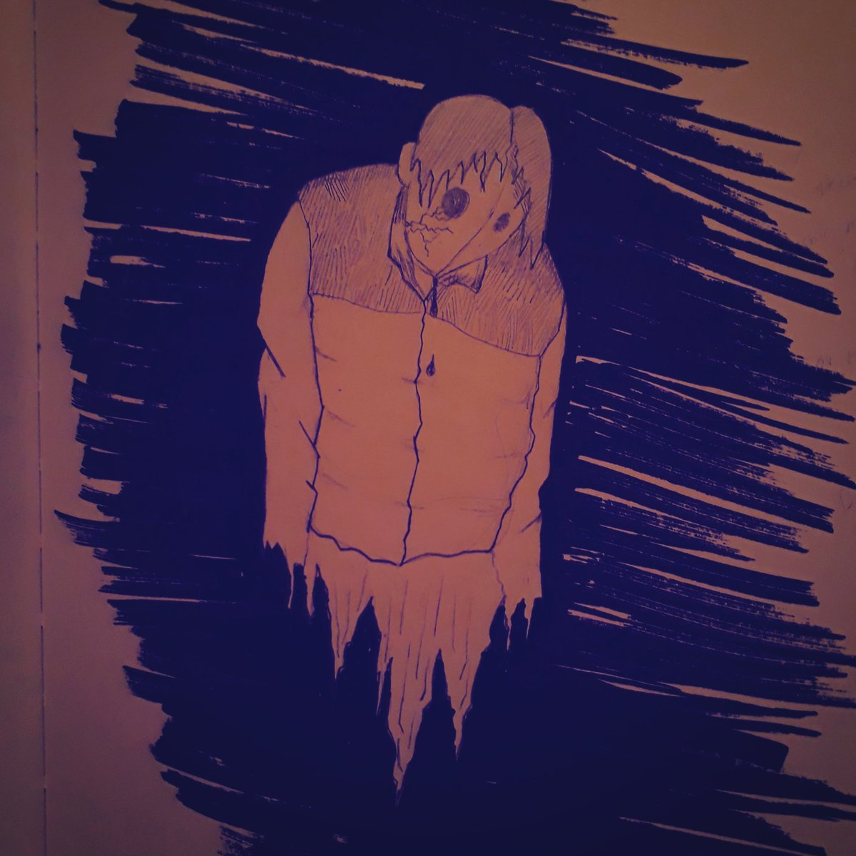 #NightlyDrawing 95 Just because you've never seen tears in my eyes Doesnt mean I've never had feelings Just because I don't share Doesn't mean I don't care Probably means I never know what I'm feeling Or maybe in another life it'd be there  Did u ever think about that?....Friend pic.twitter.com/UF3mnVMqHI