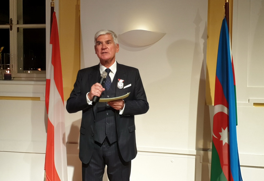 The opening ceremony of the Honorary Consulate of #Azerbaijan was held in #Salzburg, #Austria. The consulate covers the federal provinces #Tyrol, #Forarlberg and #Salzburg.  #Azerbaijan #Diaspora #HonoraryConsulateofAzerbaijan                                pic.twitter.com/XPj67bufD6