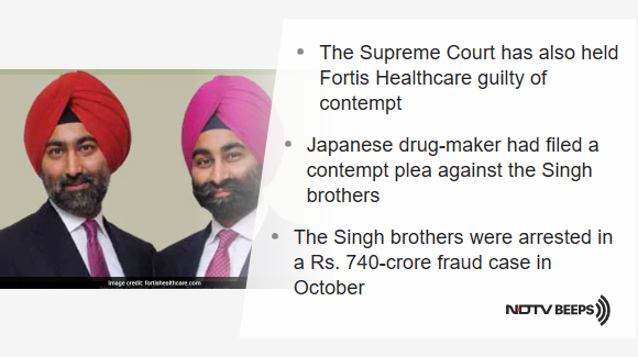 Singh Brothers, Ex-Ranbaxy Promoters, Guilty Of Contempt: Supreme Court https://www.ndtv.com/india-news/ex-ranbaxy-promoters-malvinder-and-shivinder-singh-guilty-of-contempt-says-supreme-court-in-case-fil-2132867… #NDTVNewsBeeps