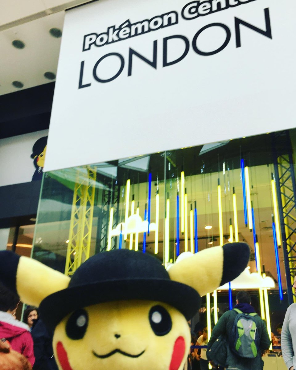 It's the last day of #PokemonCenterLondon 😭 we visited on opening day and had a great time! 💛 Good luck to everyone queuing today for this dapper fella! #londoncitypikachu @PokemonPopUp @westfieldlondon #pokemoncentrelondon #pikachu #pokemon