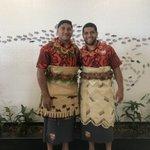 Image for the Tweet beginning: Johnny & Jase in Tonga