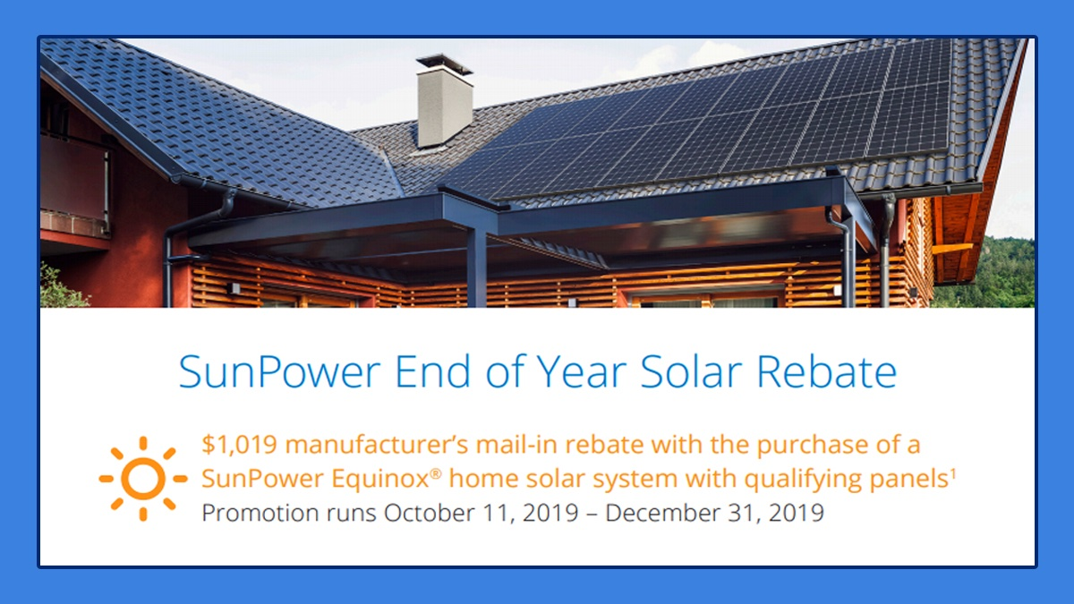 Have you heard the news? Go solar with #ScudderSolar and #SunPower and enjoy an end-of-the-year $1,019 mail-in rebate!* Valid through 12/31/19. Call us at 831-384-3900 for details! #solarpower #topsolarcontractor #solarrebatespic.twitter.com/viw4exgzYa