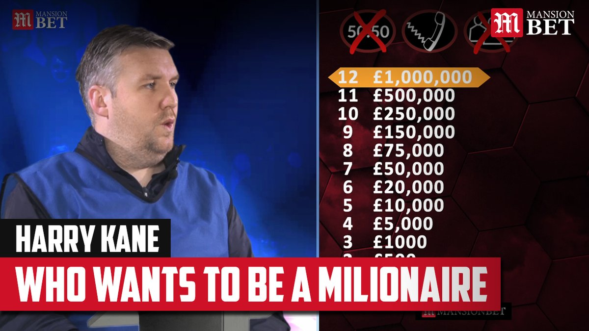 England captain Harry Kane is in the Who Wants to be a Millionaire hot seat... Will he be able to correctly answer the tough 1 million pound question? 🤔 #ENGMON #ThreeLions