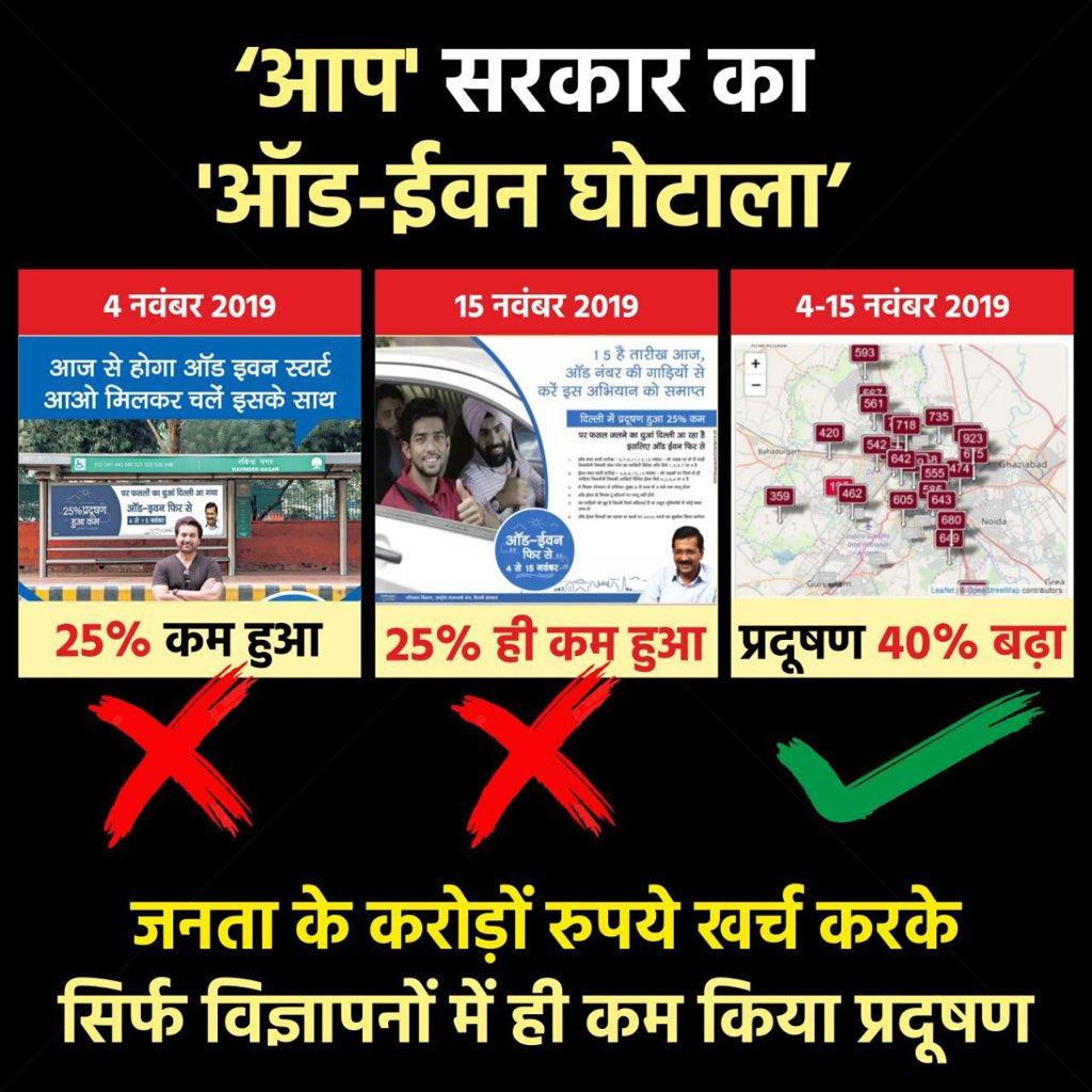 .@ArvindKejriwal ji आप दिल्ली की जनता को धोखा क्यों देते हो । प्रदूषण के नाम पर करोड़ों का फ़्रॉड किया आपने । #FridayThoughts
