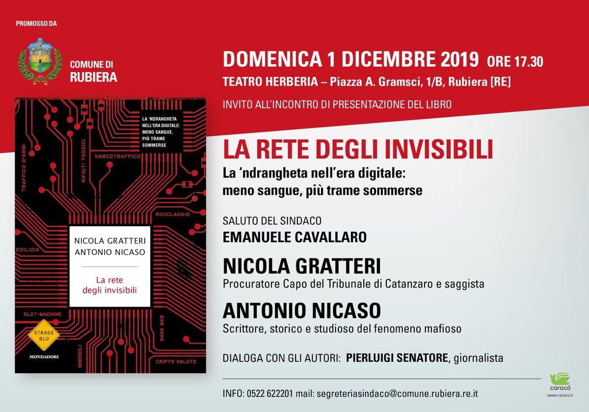 In uscita il nuovo saggio di @NicolaGratteri e @AntonioNicaso La Rete Degli Invisibili @Librimondadori vi aspetto