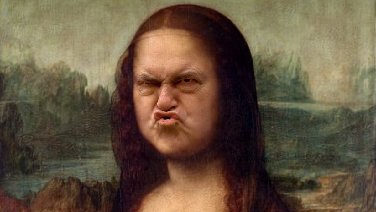 The Mona Lisa with the face of John Prescott.<br>http://pic.twitter.com/IFWh28FB3a