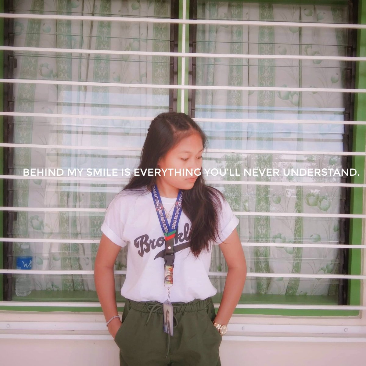 """""""Behind my smile is everything you'll never understand""""#IMustBeOldBecause"""