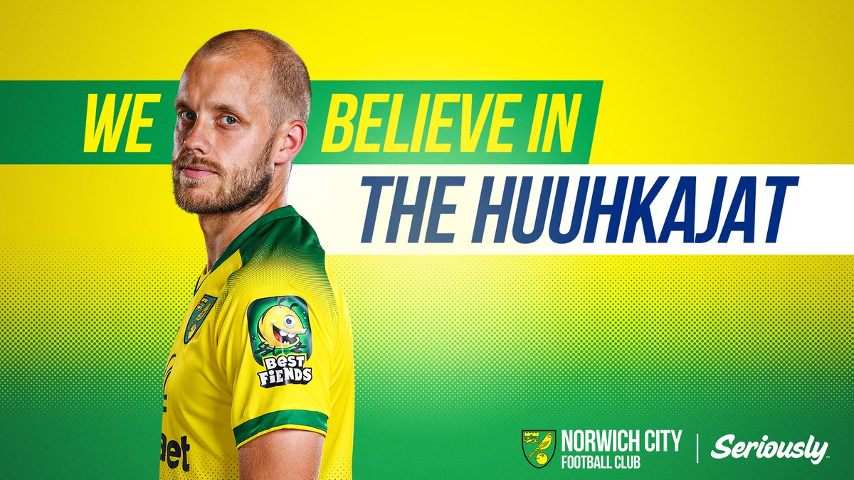 🇫🇮 We are fully behind the @Huuhkajat and Teemu Pukki for tonights Euro 2020 qualifier against Liechtenstein. A draw would see them qualify for a major tournament for the first time ever! 💪 #ncfc