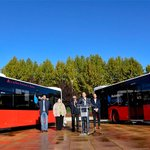 Image for the Tweet beginning: 6 nuevos autobuses híbridos se