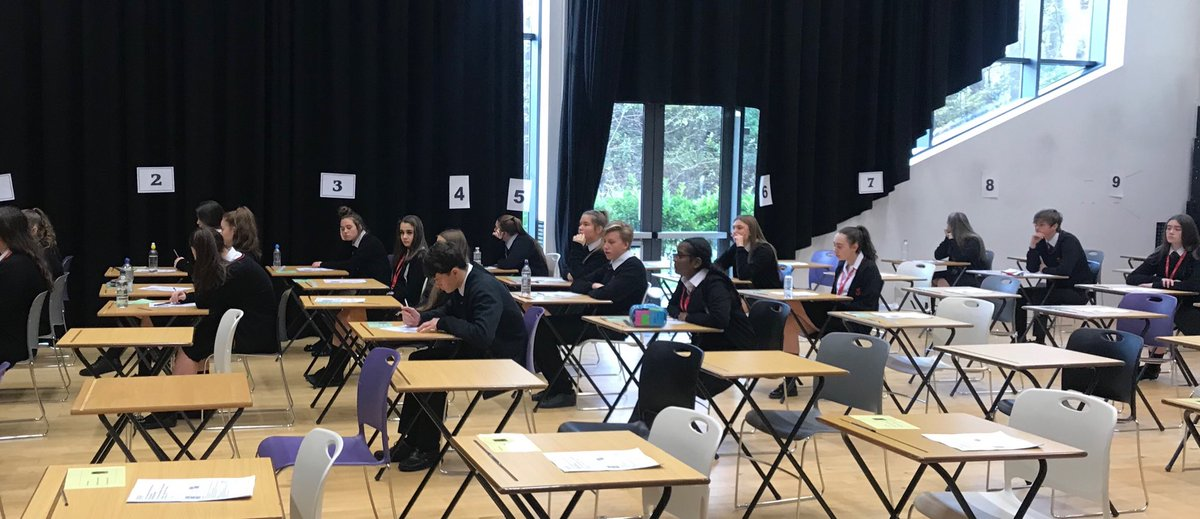Year 12 about to start their first Assessment Point exam. #Academicsuccess