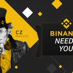Image for the Tweet beginning: #Binance is hiring for our