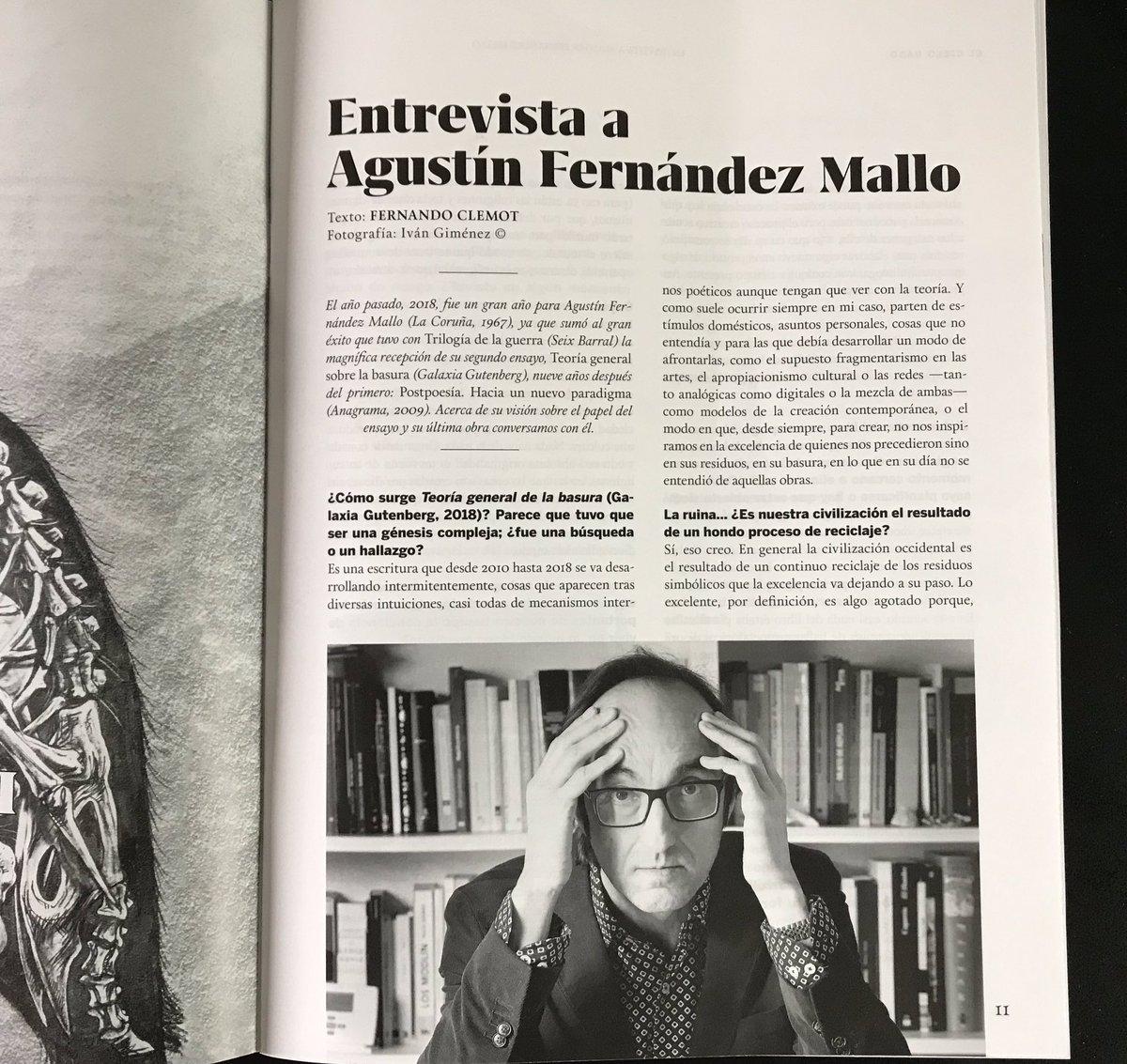 En #RevistaQuimera, @QuimeraRevista este mes. Extensa entrevista en el número especial de ensayo contemporáneo, por @FernandoClemot #TeoríaGeneralDeLaBasura #TrilogíaDeLaGuerra #FotosEnLasQuePareceQueEstásPensandoPeroNo