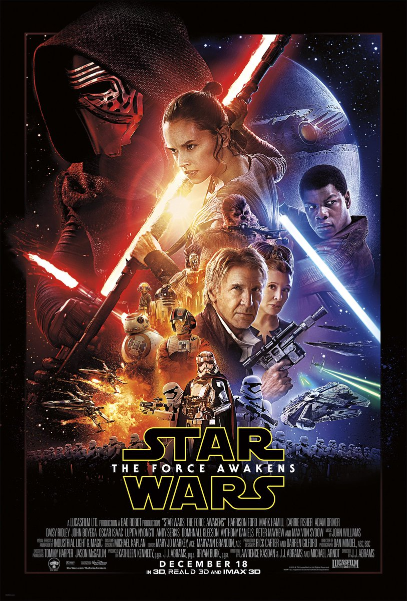 Star Wars: Episode VII (2015) Some love it, some hate it, but at the end of the day The Force Awakens exists and its up to fans to determine whether or not its truly canon. I fall somewhere in the middle. How about you...? #FridayFeeling #TheRiseOfSkywalker