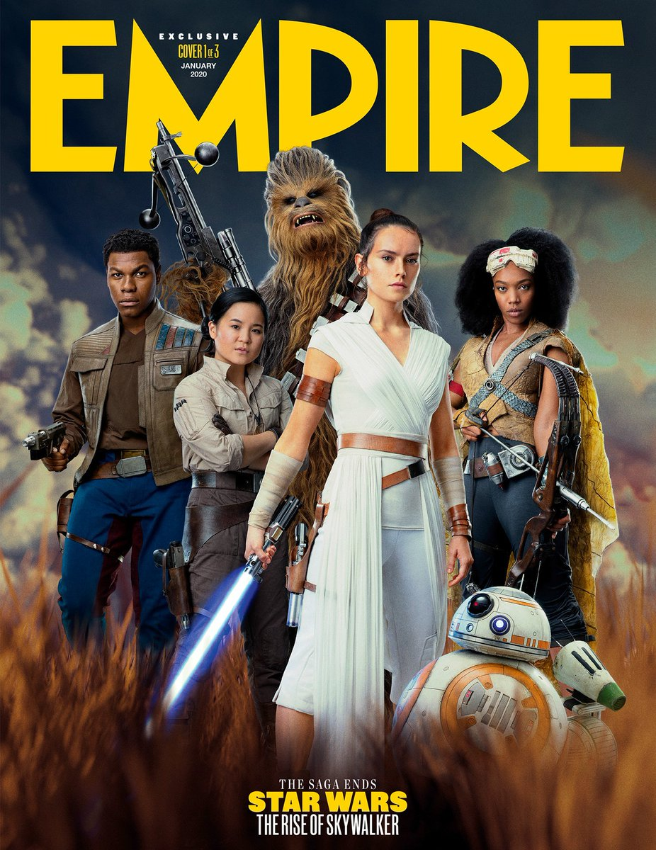 The #EntertainmentWeekly covers were kind of...meh. The #EmpireMagazine covers, however, have me rather happy. The one with Rey is definitely my favorite.😊 #StarWars #TheRiseofSkywalker