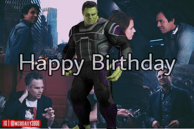 Happy Birthday to the big green Mark Ruffalo