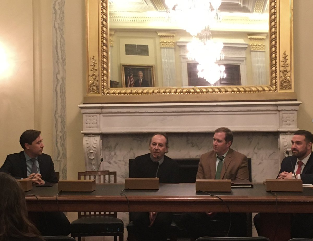 "I enjoyed sharing the science and the roles of ""Drones in Agriculture and Forestry"" at the briefing organized at the US Senate by @SenGaryPeters, @NationalCorn, @FarmBureau, @DJIGlobal, @MSUAgBio, @USDA_NIFA, @KelloggBioStn, @MSU_NatSci, @MSUnews, @CANRatMSU<br>http://pic.twitter.com/dfjNUpR9EV"