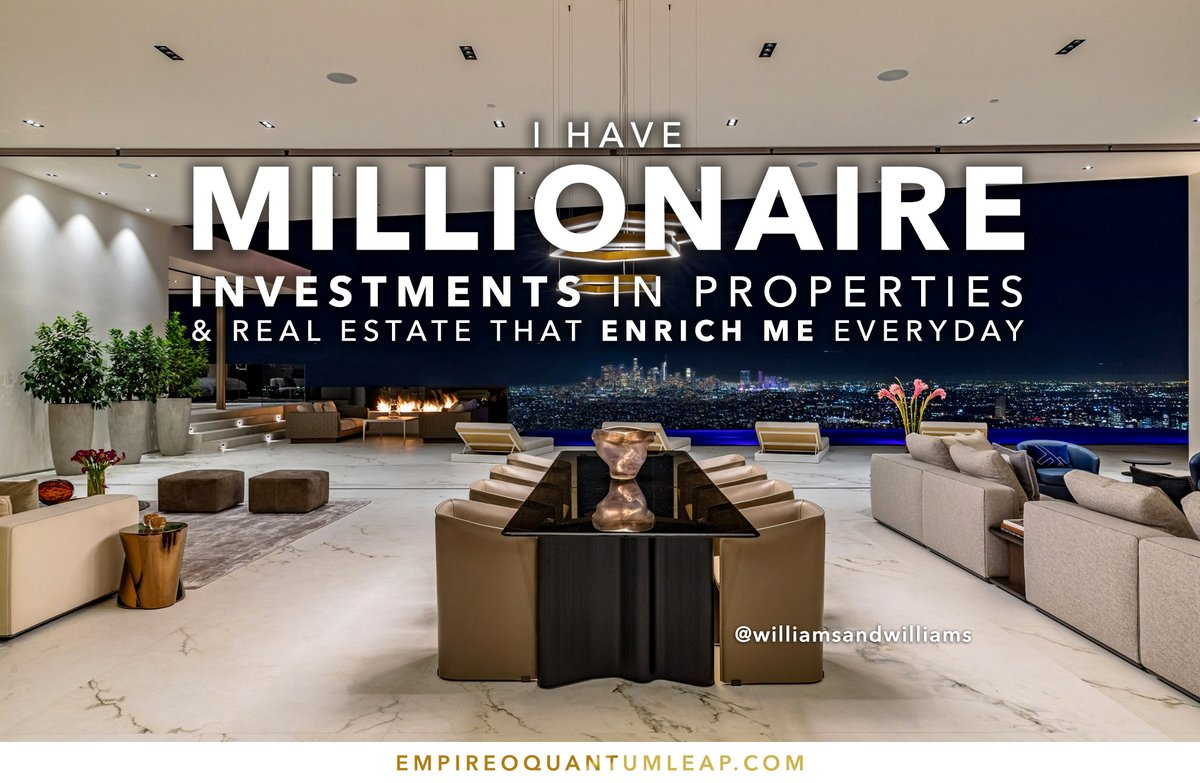 """I have MILLIONAIRE INVESTMENTS in properties & real state that ENRICH ME every day. 🏪⚙️💰👨🏻💼  """"QUANTUM LEAP TO MILLIONAIRE""""💰💎 ▶️ I want to know more about the program https://t.co/zfXarp0sbB https://t.co/4DRFWhyF8r"""