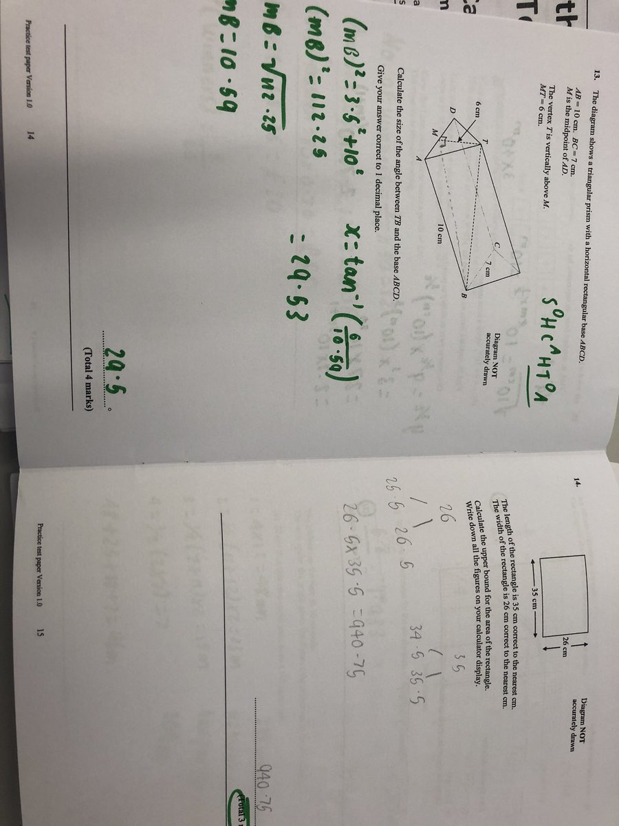 Some beautiful work from Y11 using the emailed model solutions to correct their homework @ACADEMYSTNICKS