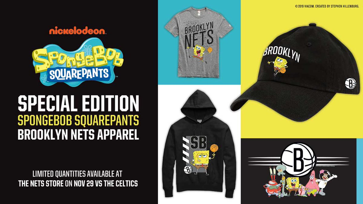 Brooklyn 🤝 Bikini Bottom   Special edition @SpongeBob SquarePants x Nets merch on sale a week from today at the Nets Store!