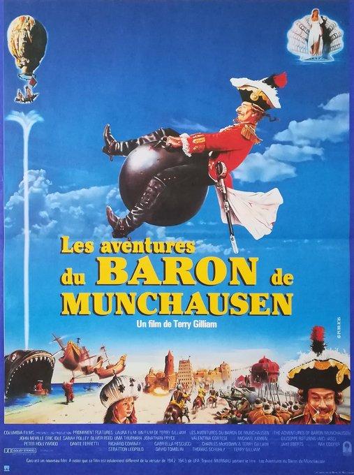 Happy birthday Terry Gilliam - THE ADVENTURES OF BARON MUNCHAUSEN - 1988 - Belgian release poster