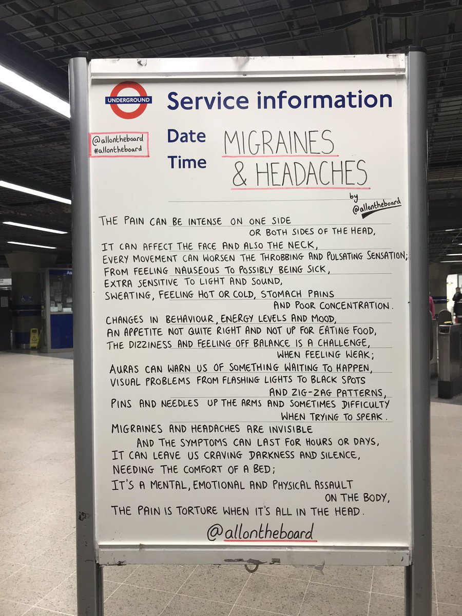 Migraines & Headaches. There are differences and similarities between the two, but one thing they have in common is that they can be extremely debilitating for the person experiencing them. @allontheboard #Migraine #Headache #Pain #Health #allontheboard