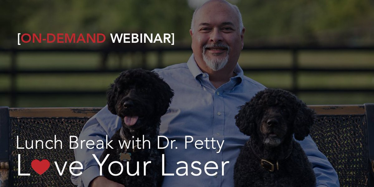 Did you miss yesterday's lunch break webinar with Dr. Petty?  No worries!  It's available for you to view on demand - check it out here: https://bit.ly/2D4eDfM  #webinar #laser #evidence #education #partnership #companion