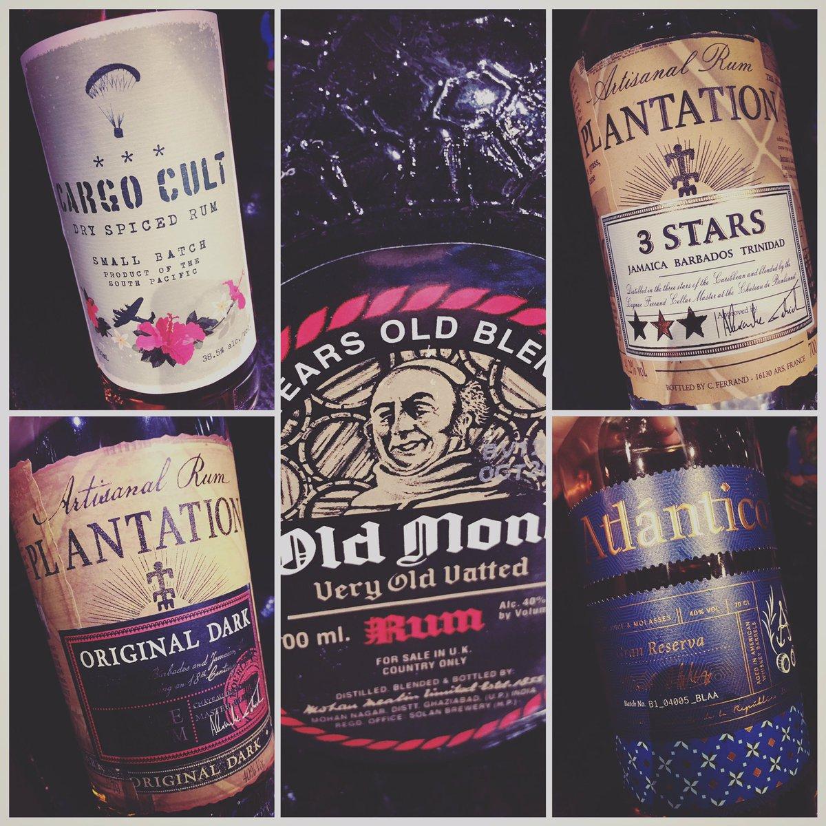 It's not all beer & gin! Check out our new range of rum. #oldmonk #plantationrum #cargocultrum #atlanticorum #artisanspirits #craftrum #rum #darkrum #whiterumpic.twitter.com/togV4GD68h