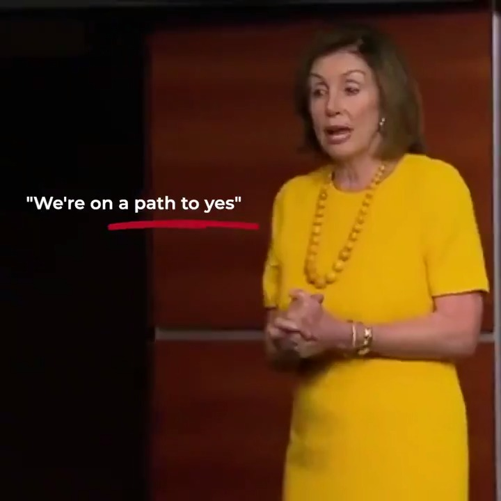 "For *a year* now, @SpeakerPelosi has promised she was on a ""path to yes"" on USMCA.  ….we're still waiting.  Democrats' obsession with impeachment has left them with NO TIME to work on issues important to the American people.  WATCH:"