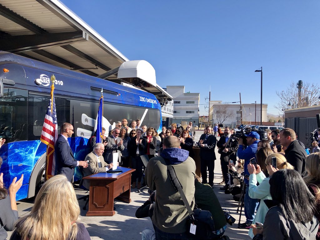 Today, I signed an Executive Order directing the leaders & agencies of my administration to begin collaborating with public, private, & tribal partners to advance NV's ambitious climate goals, tackling the devastating impacts of climate change and protecting NV families...