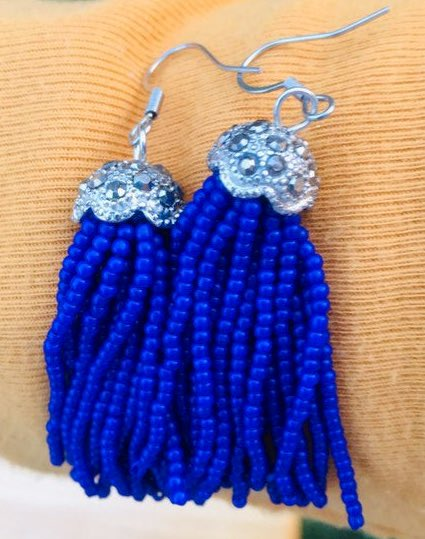 Excited to share this item from my #etsy shop: Bohemian Blue #earrings #bohemian #DoctorWho #onceuponatime #blue #handmade #Christmas #giftsforher #shopsmall  https://etsy.me/34e5zkb